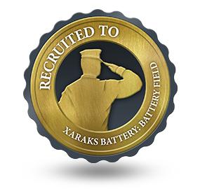 Recruited to Xaraks Battery Field