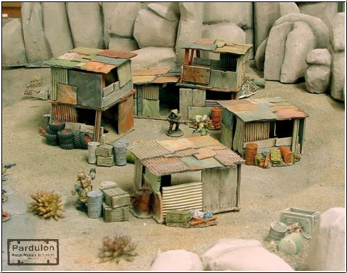 Pardulon Miniatures Squatters Camp Terrain Set