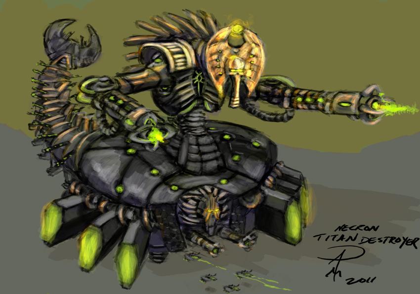 Necron Titan Destroyer Ontabletop Home Of Beasts Of War