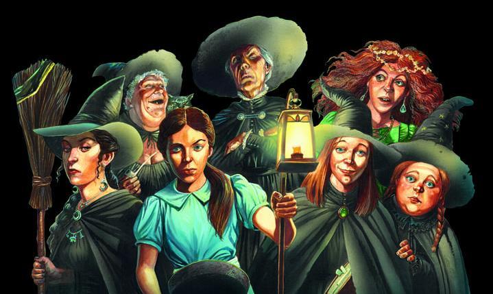 3 Micro Art Studio BNIB Discworld Three Witches on brooms D02900