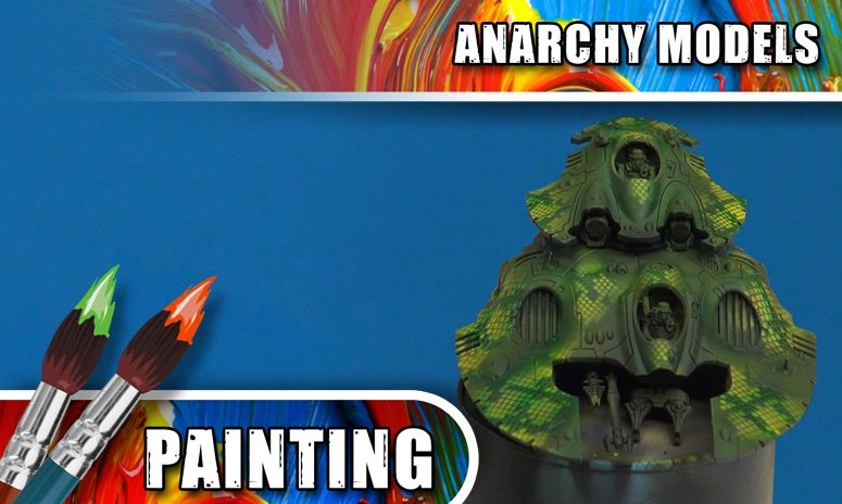 Anarchy Models – Airbrushing With New Snake Skin Stencils