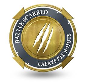 Battle Scarred at Lafayette B-Huts
