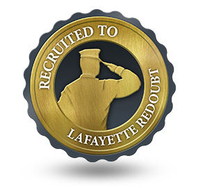 Recruited to Lafayette Redoubt